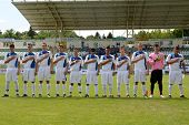KAPOSVAR, HUNGARY - JULY 21: Brescia players before the VIII. Youth Football Festival U17 Final SYFA