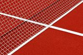 Tennis net and lines