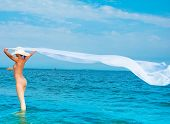 stock photo of nudist beach  - Dress Beach Beauty - JPG