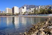 City Of Marbella Bay In Spain