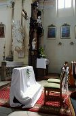 foto of unity candle  - Chairs in the church - JPG