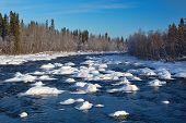Small River, Winter Landscape