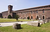 Sforzesco Castle in Milan, Italy