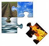 Four Elements Puzzle Fire Apart