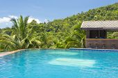 Paradise Farm Park swimming pool  at Samui Thailand