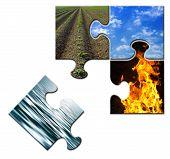 Four Elements Puzzle Water Apart