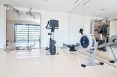 Gym And Fitness Equipment. Indoor.