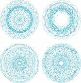 Abstract Blue With Circle Pattern, Mandala Set