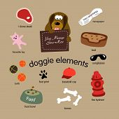 Doggie Elements Vector Set