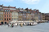 WARSAW, POLAND - MAY 8: View of old Market Square on May 8, 2013 in Warsaw, Poland. Warsaw is the most visited by tourists city in Europe.