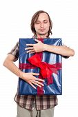 Satisfied Man With Big Gift