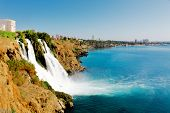 Waterfall on Duden river in Antalya, Turkey