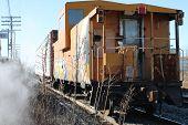 caboose graffiti freight train