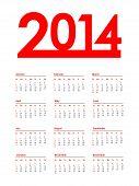 Calendário vermelho especial para 2014