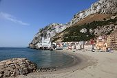 La Caleta Beach In Gibraltar
