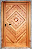 Wooden Door Made From Douglas Fir
