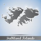 shiny icon in form of Falkland Islands