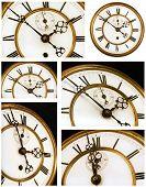 Old Clock Face Six Views