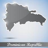 icono brillante en forma de República Dominicana