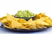 Guacamole And Chips Plate