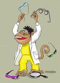 Affe - Augenarzt
