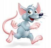 image of rats  - Illustration of a cartoon rat character running a conceptual illustration for the rat race perhaps - JPG