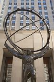 Atlas Statue On Fifth Ave In Manhattan