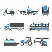 Transport Icons - A set of tenth