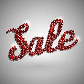Sale text decorated with rhinestones - raster version