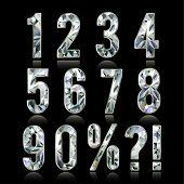 Diamond numbers set - raster version