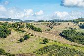 Landscape Tuscany Near Volterra