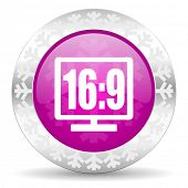 16 9 display christmas icon