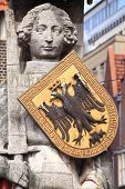 medieval statue of hero Roland in Bremen