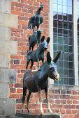 The Bremen town musicians statue