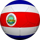 Costa Rican Flag With Soccer Ball