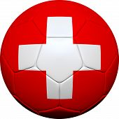 Swiss Switzerland Flag With Soccer Ball