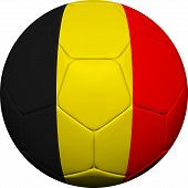 Belgian Flag With Soccer Ball