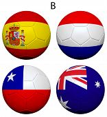 Soccer Championship 2014 Group B Flags