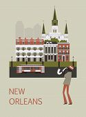 Man In New Orleans. Vector