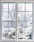 Winter View Through Window