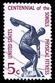 Usa Stamp, Centennial Of The Sokols Physical Fitness