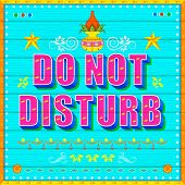 illustration of Do No Disturb Poster India truck paint style