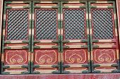 Doorway In Historical Architecture In Forbidden City In Beijing, China