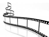 empty film strip on white background