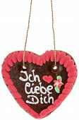 Gingerbread-heart With I Love You In German