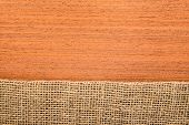 Makore Texture With Hessian, Rural Style