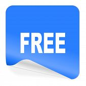 free blue sticker icon
