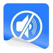 mute blue sticker icon