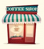 stock photo of latte coffee  - Coffee shop house - JPG