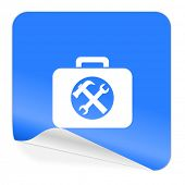 toolkit blue sticker icon
